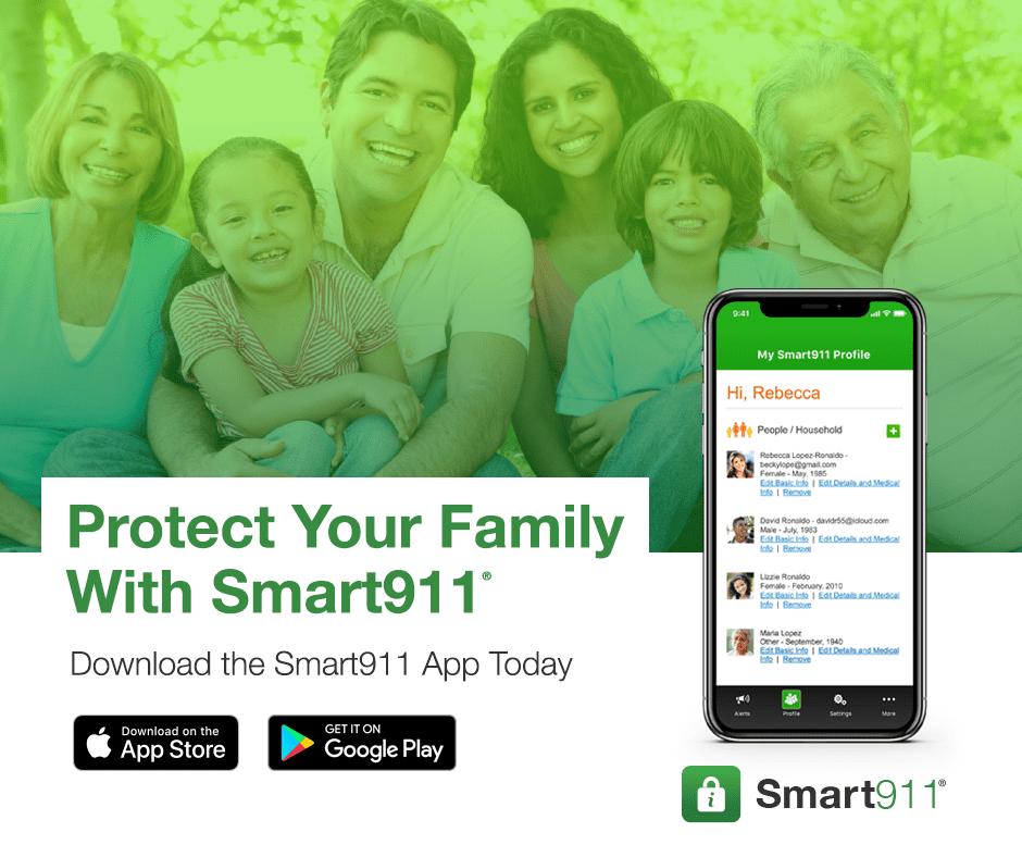Smart911 App Social Media Graphics
