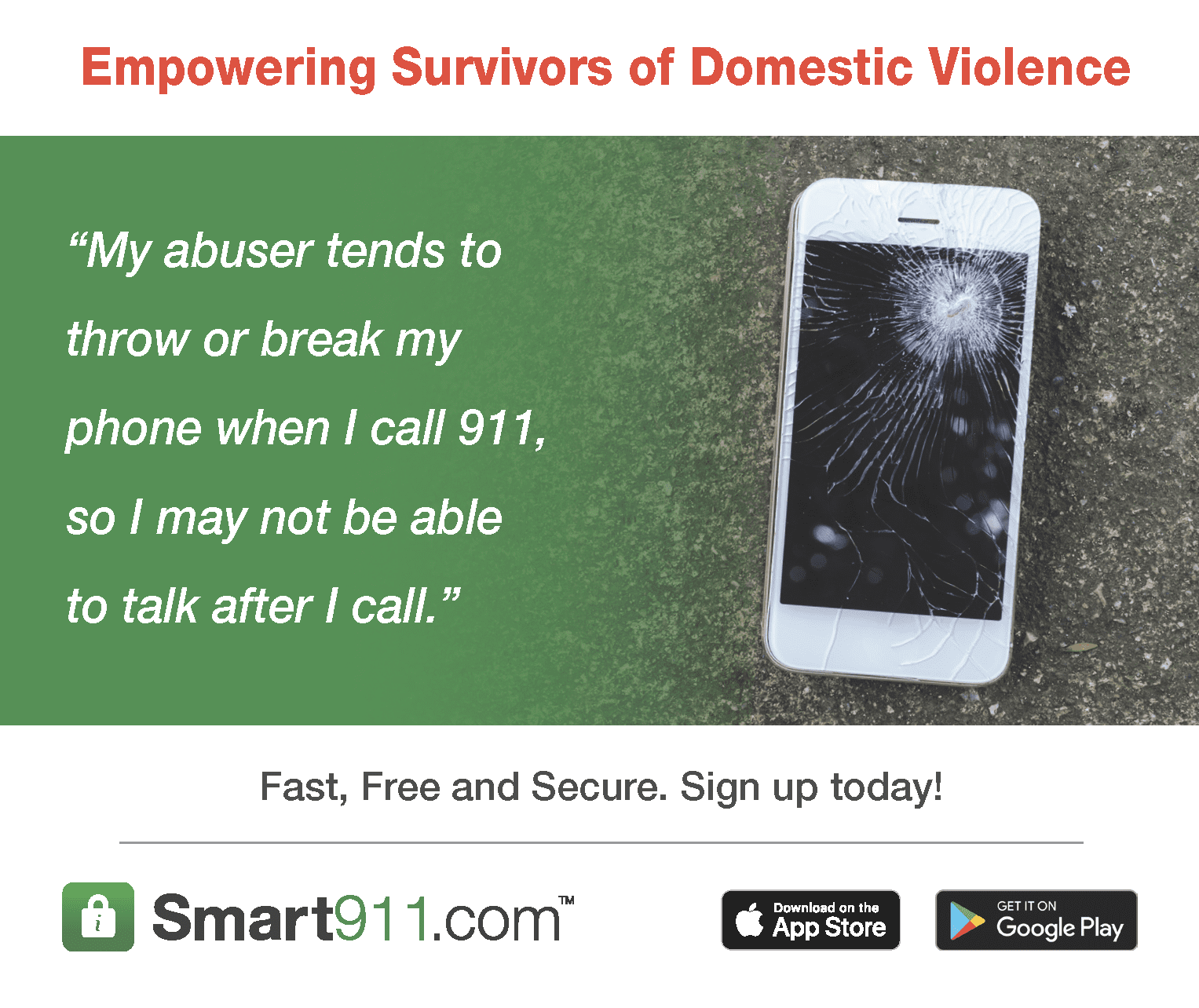 Smart911 Domestic Violence Outreach Kit