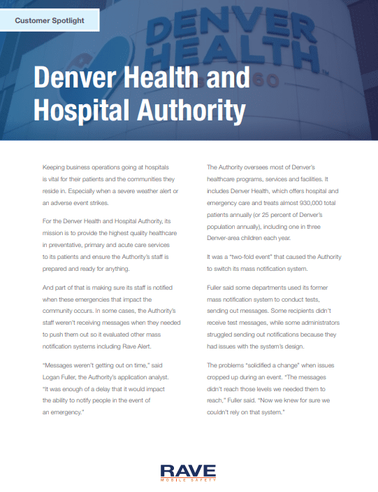 Customer Spotlight: Denver Health and Hospital Authority