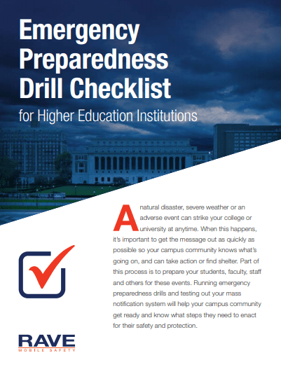 Emergency Preparedness Drill Checklist for Higher Education Institutions