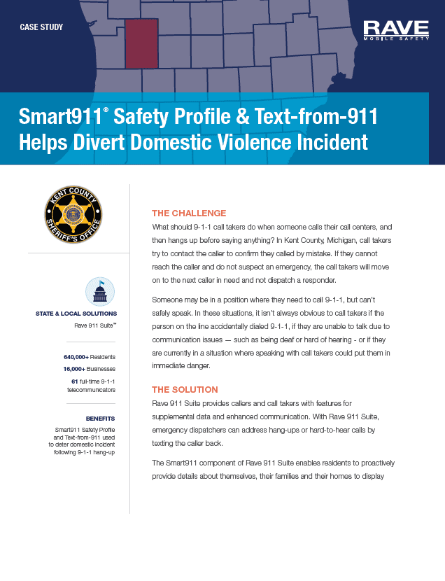 Case Study: Smart911 Diverts Domestic Violence in Kent County, MI