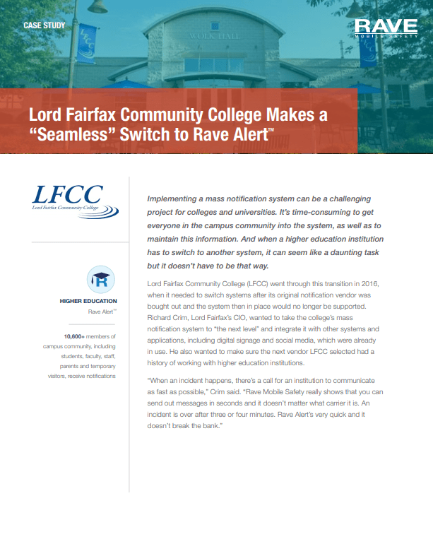 Case Study: Lord Fairfax Community College