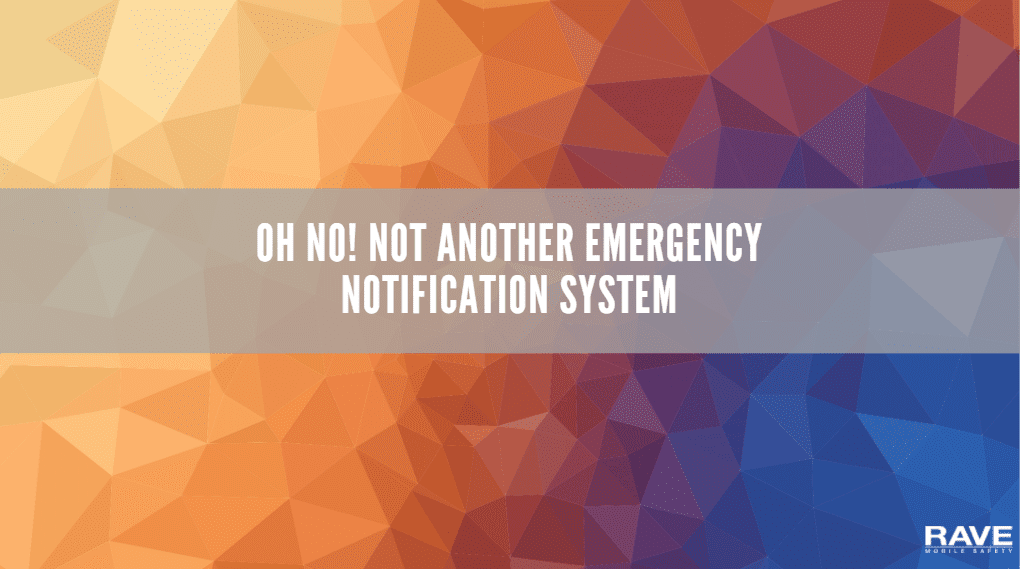 Oh No! Not Another Emergency Notification System Video-1