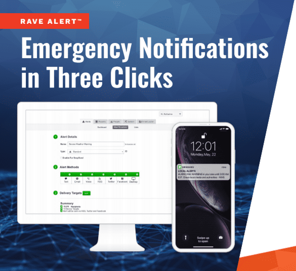 Rave Alert Emergency Notifications in Three Clicks Cover