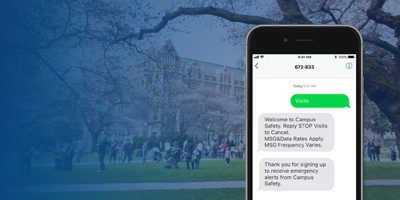 Higher Education: Rave Alert SMS Opt-in