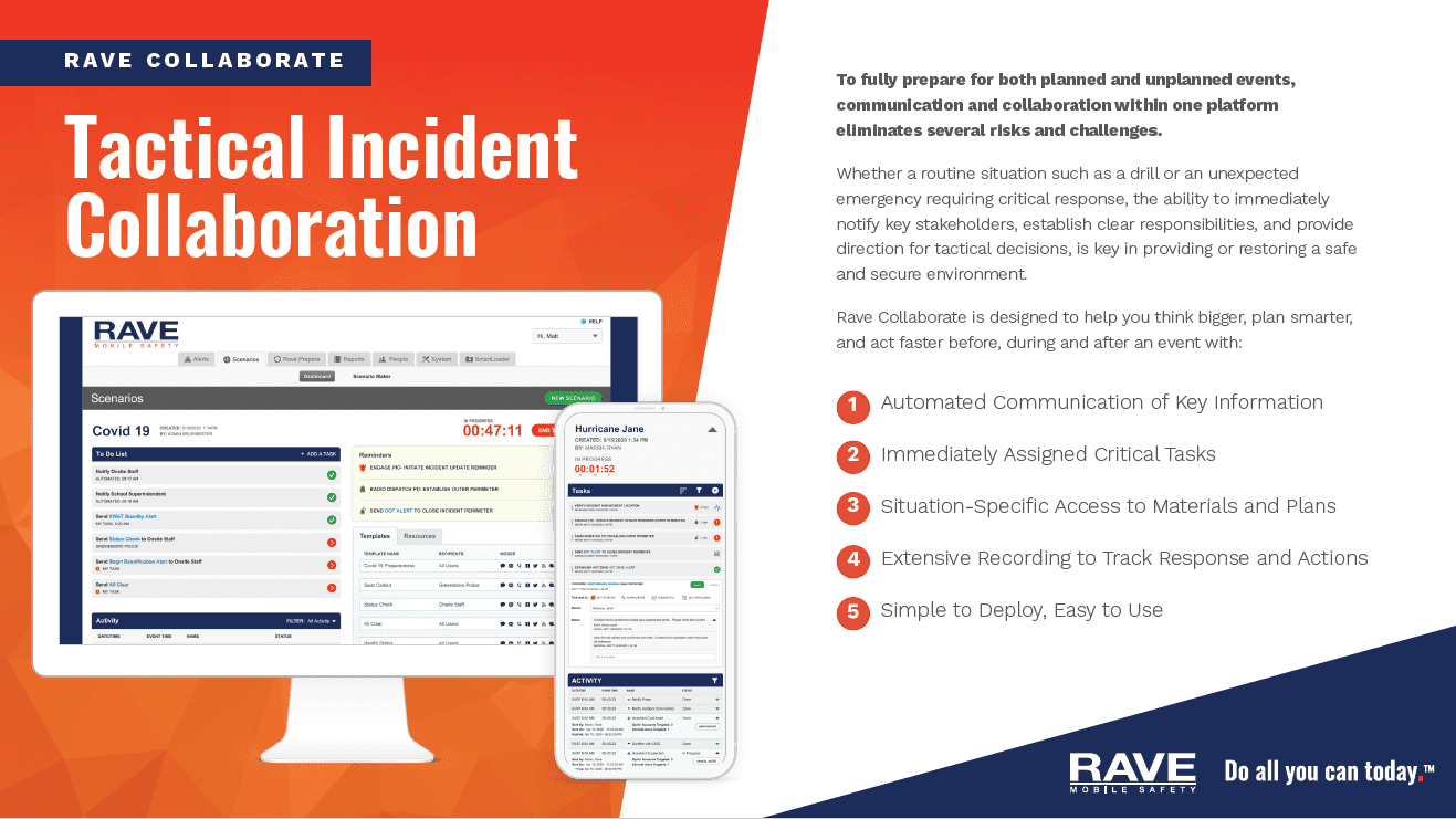Rave Collaborate Tactical Incident Collaboration