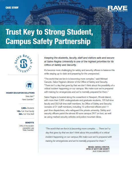 Case Study: Salve Regina University Student and Campus Safety Partnership