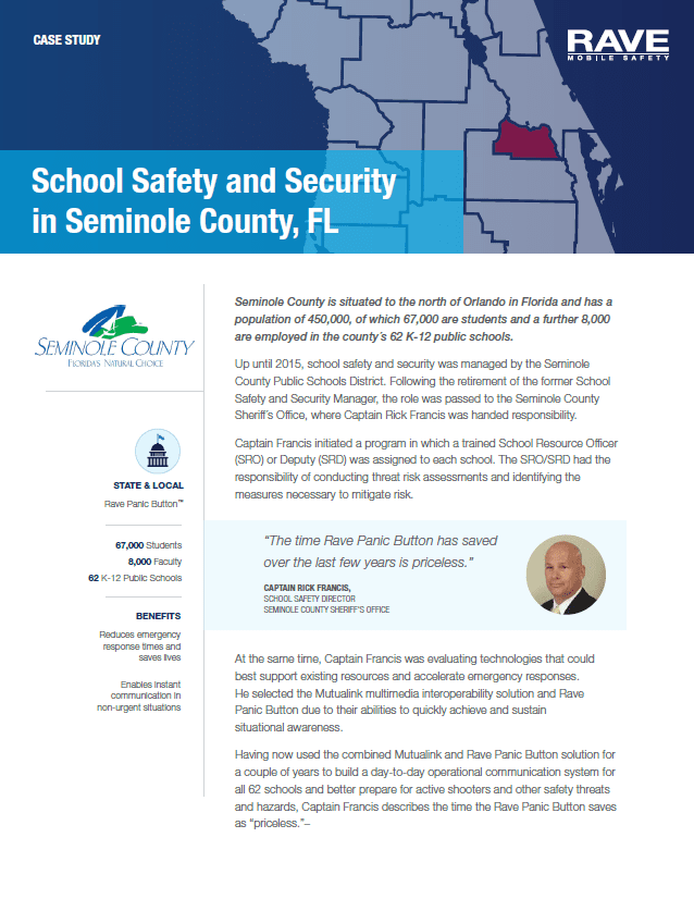 Case Study: School Safety and Security in Seminole County, FL