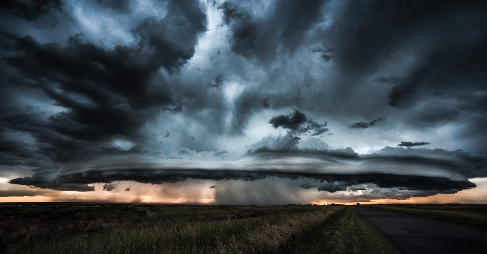 Storm clouds in distance