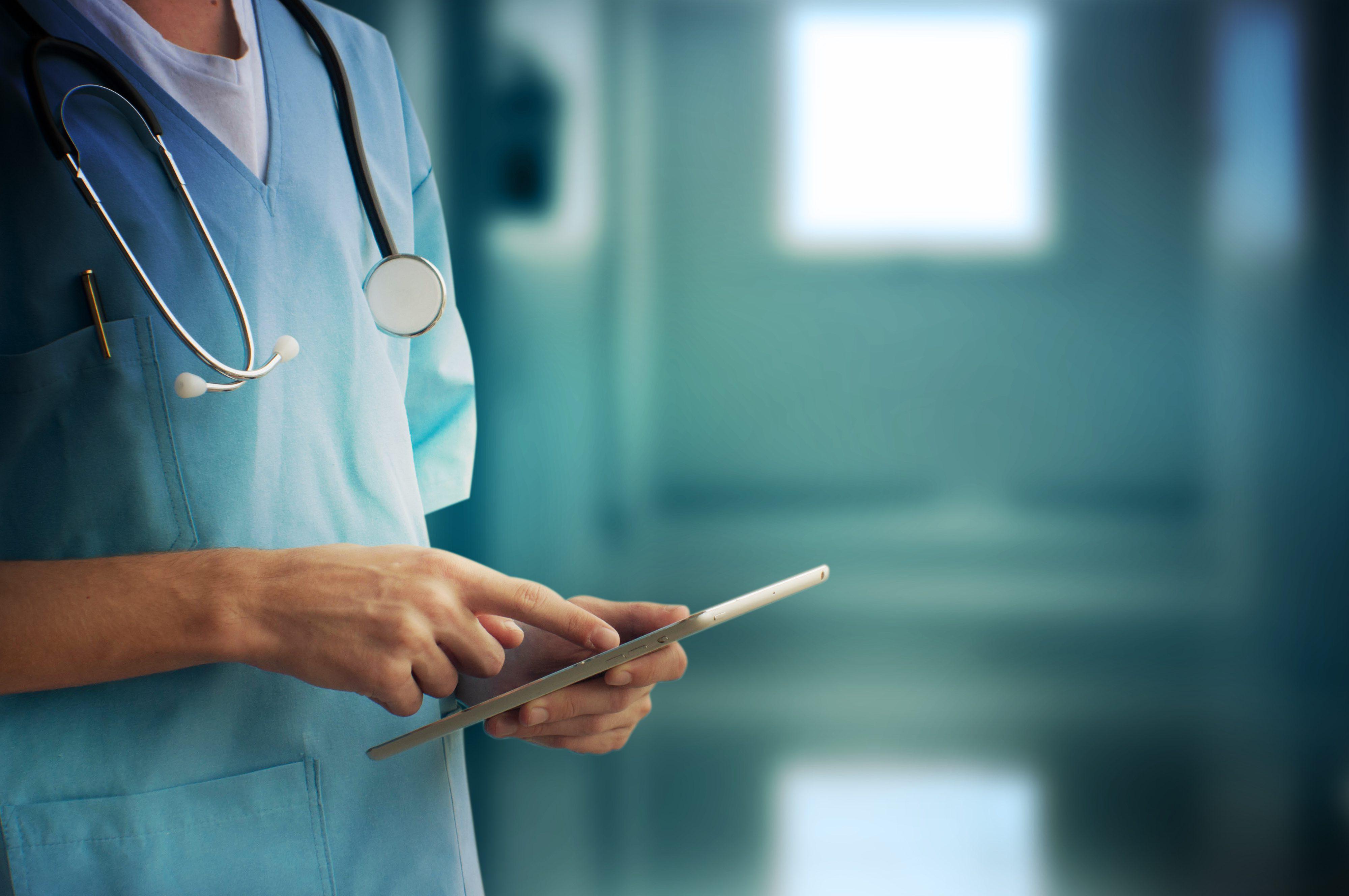 clinical preparedness tool - nurse using tablet