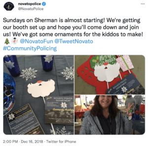 Novato community policing tweet