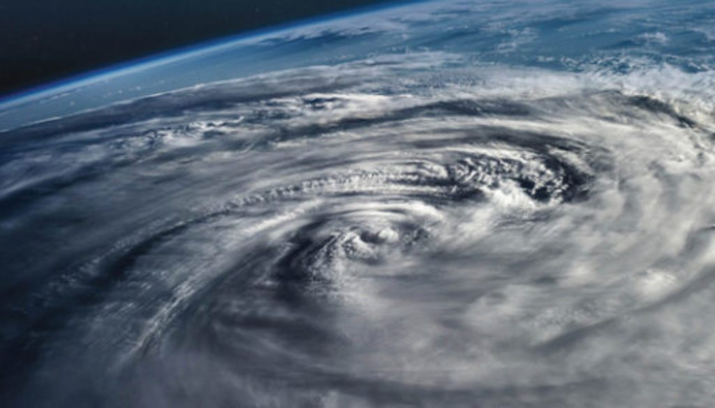 hurricane viewed from space