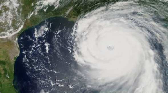 hurricane as seen from satellite