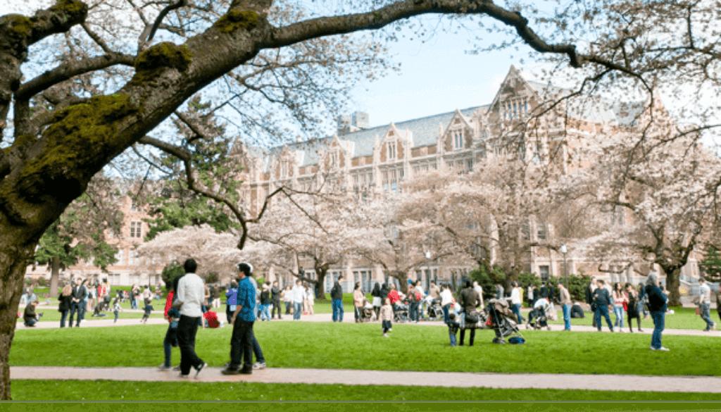 college campus quad