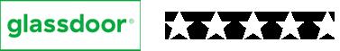 glassdoor 5 stars logo
