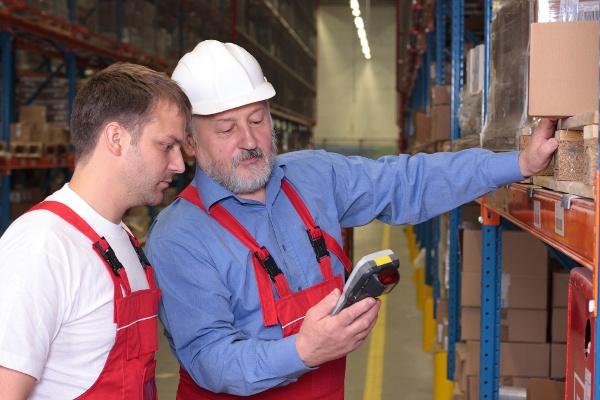 elderly workers in factory