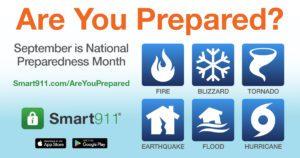 smart911 weather preparedness