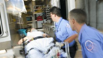 ambulance patient on a stretcher