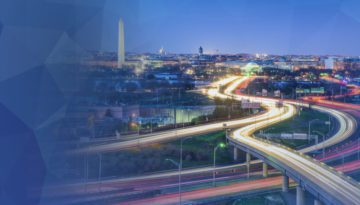 washington dc traffic long exposure