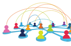 people connected virtually