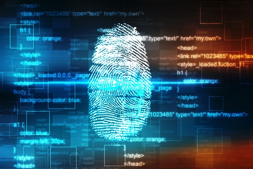 software image with finger print shown