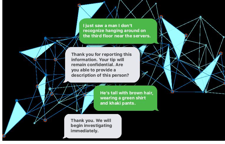 text security tip conversation