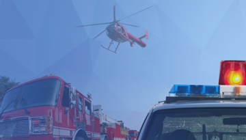 emergency response from fire and police